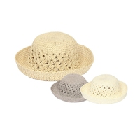 Ladies Crochet Hat Asstd Cols 57cm