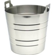Wine Bucket with Top Handles S/S 225mm Dia Fits E0314/E0334
