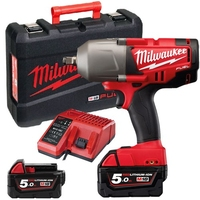 Milwaukee M18CHIWF12-502X c/w 2 x 5ah Batteries M18 FUEl 1/2 HIGH TORQUE IMPACT WRENCH WITH FRICTION RING