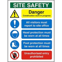 SAFETY SIGN - SITE SAFETY 1200X600
