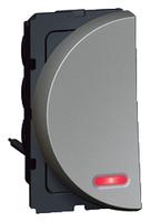 Arteor 20Amp Switch 2 Way (Neon) 1 Module Left - Magnesium  | LV0501.2572