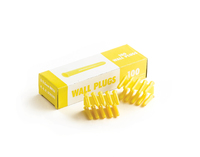 Yellow Plastic Wall Plugs Box (100)