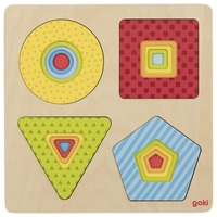 Layer puzzle geometrical shapes