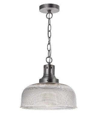 Tack 1 Light Glass Pendant Industrial Nickel | LV1802.0105