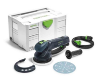 Festool Bundle Rotex Sander Set Includes 575073 RO150 FEQ Plus 110v 497690 SYS-STF 150 203343 Protection Pad 203305 Granat STF D150 P120 NET Pkt 50
