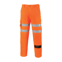 Portwest Hi-Visibility Combat Trousers RIS Hi-Vis Orange