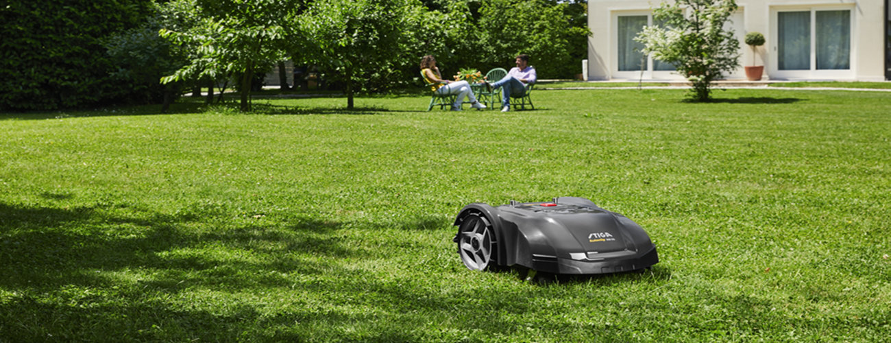 Enjoy your garden, let robotic mowers do the rest.
