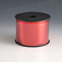 Red Metallic Ribbon. 250mtrs Long