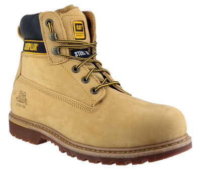 Caterpillar Holton S3 Tan Full Safety Boot