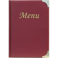 Basic Menu A5 Wine Red - 8 Page