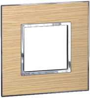 Arteor (British Standard) Plate 2 Module 1 Gang Square Light Oak | LV0501.2714