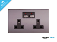Mi|Home Style -  Double Socket - nickel