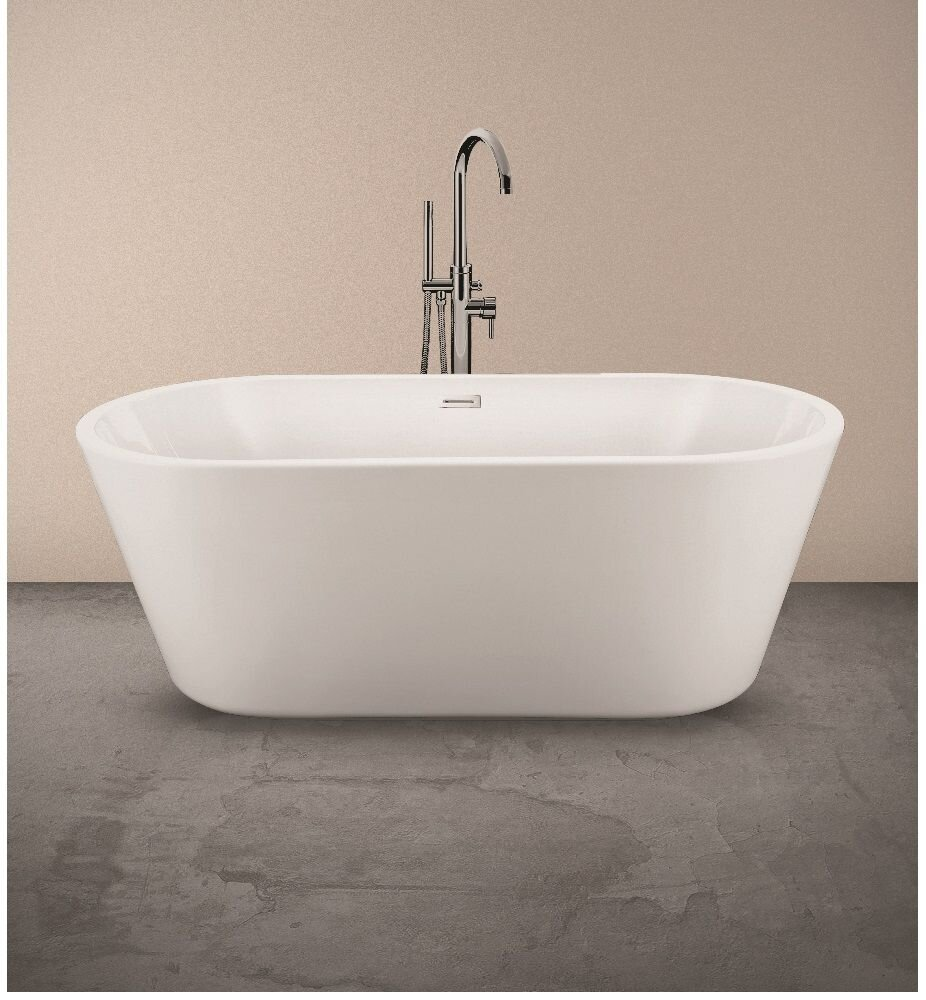 ZOE 1695X750X590MM FREESTANDING BATH