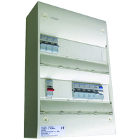 Hager SBE800 7Way 2 Row Consumer Unit Gamma IP30