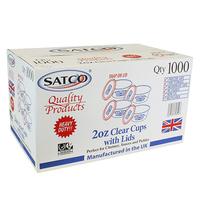 Round Plastic Pots & Lids - Satco (1000x2oz)