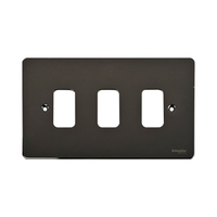 Switch Ultimate 3 Gang Flat Plate Black Nickel