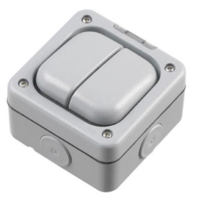 MK MASTERSEAL 10A 2GANG OUTDOOR SWITCH IP56