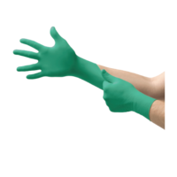 Ansell Green Nitrile Gloves, 1000/Case
