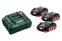 Metabo Battery Set 3 x 4.0Ah Li-HD and Charger