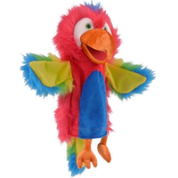Colourful parrot hand puppet