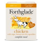 Forthglade Complete Adult Dog Tray Chicken Tripe Brown Rice & Veg 395g x 18