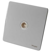 Schneider Ultimate Screwless Single TV/FM CO-AX White LV0701.0956