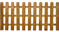 ROUND TOP PICKET FENCE PANEL 6' X 4'