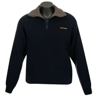 MKM 36.6 Deg Tasman Zip & Collar Double Layer Wool & Possum Jersey