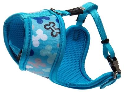 """Rogz Lapz Trendy Wrapz Small Harness - Blue Bones 12½"""" x 17"""" x 1"""