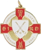 34mm Hurling Medal - Gold / Red