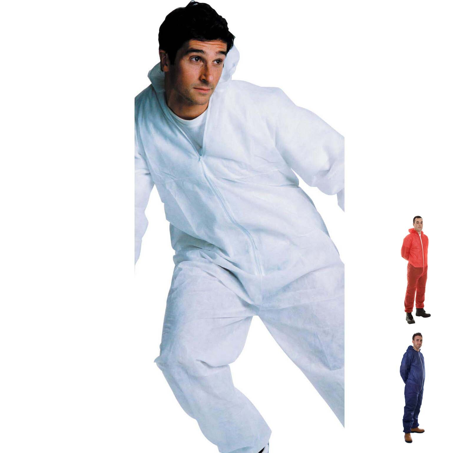 Polypropylene Disposable Coverall with Zip Front Fastening