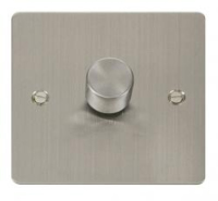 1 GANG 2W 400W DIMMER FLAT SCREWED STAINLESS STEEL