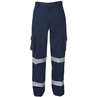 Cotton Hi Vis Tape Cargo Trousers with 3M Tape 310gsm