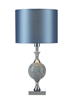 Elsa Table Lamp, Blue Mosaic Complete with Shade | LV1802.0131