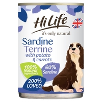 HiLife 'ION' Dog Can Sardine Terrine with Potato & Carrots 395g x 6