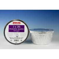 Caroline 2lb Foil Pudding Basin 2pk