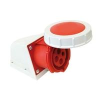 CEE UIV3636SRU Wall Socket 63A 400V 4P Red IP67