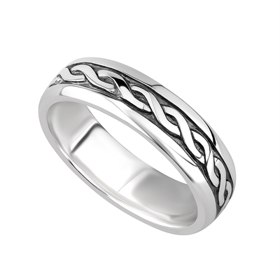 LADIES STERLING SILVER CELTIC RING