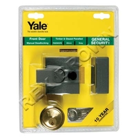 YALE 40MM BRASS SECURITY DOOR LOCK