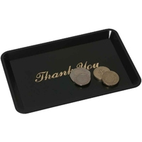 Tip Tray Deluxe Black Inscribed Thank You 110mm x 160mm
