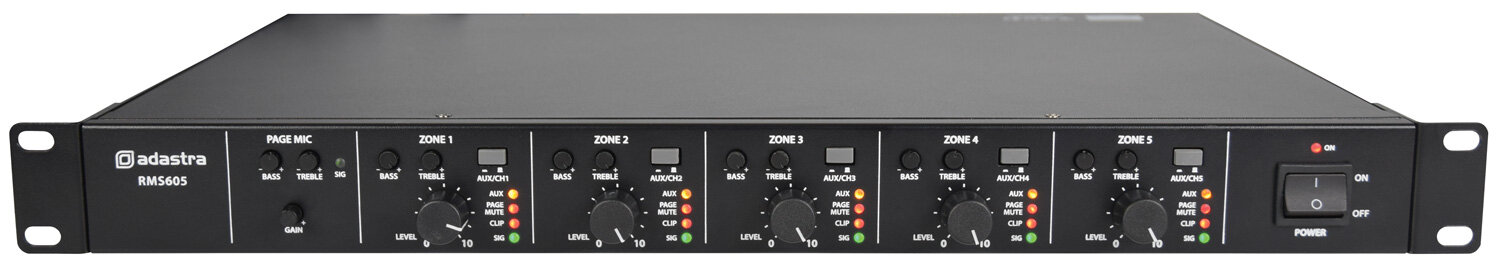 Adastra RMS605 Amplifier 5 x 60W100v or 4-16ohm