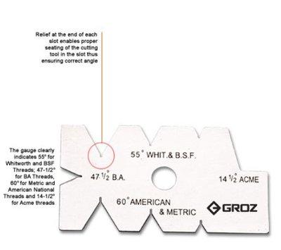GROZ 47-1/2 + 14-1/2 SCREW CUTTING GAUGE