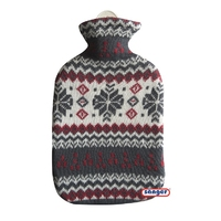 Cotton Covered 2L Hot Water Bottle Flocke