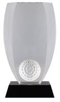 16cm Crystal Golf Ball Award (Plain Box)