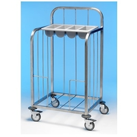 Tray & Cutlery Trolley S/S
