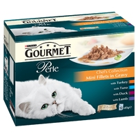 Gourmet Perle Pouch Chef's Collection in Gravy 85g 12-Pack x 4