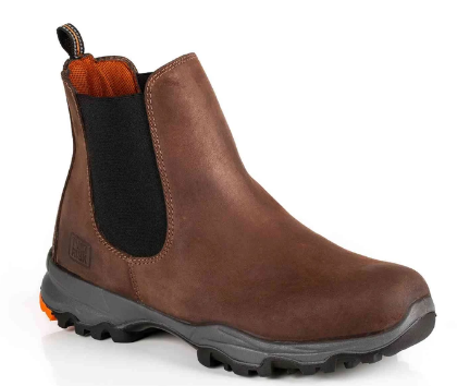 'NO RISK' NASA BROWN LEATHER SAFETY BOOT (UPDATE OF NEW DENVER)