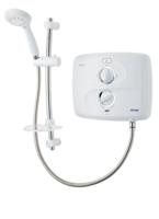 Triton 9KW White/Chrome Pumped Electric Silent Shower