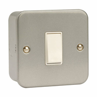Click CL011 1G 10A 2 Way Switched Metalclad