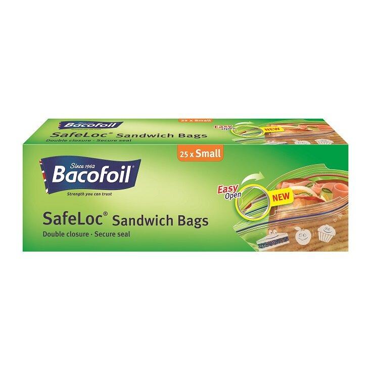 Bacofoil 25 Safeloc Sandwich Bags Small 1 litre